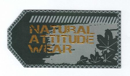 Natural attitude wear - ruhára vasalható textil matrica