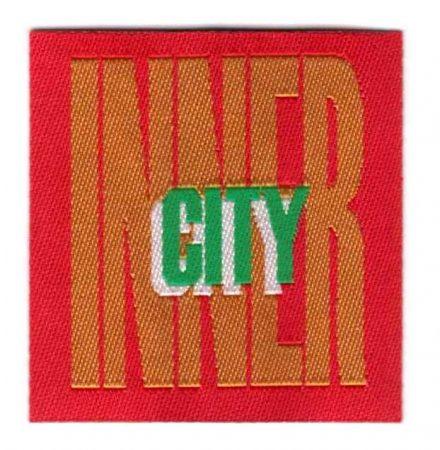 Inner City - ruhára vasalható textil matrica