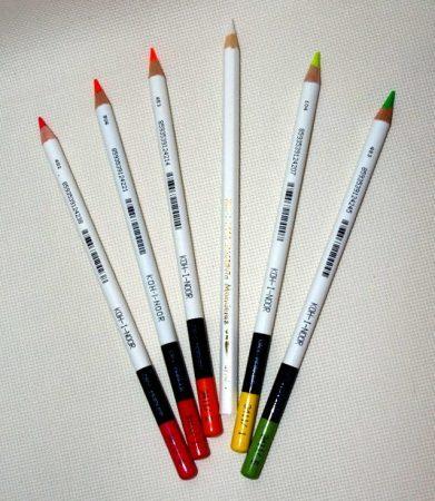 Jelölő ceruza - színes - vízzel oldódó