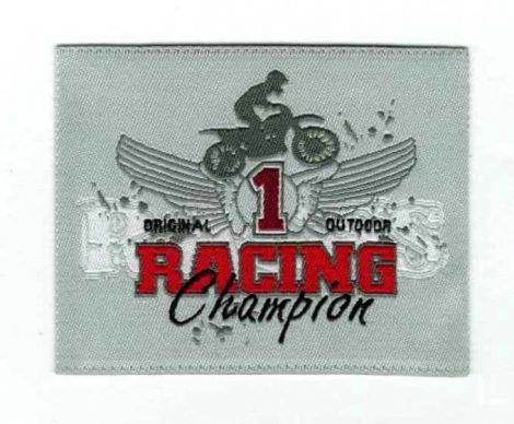 Racing Champion - ruhára vasalható textil matrica
