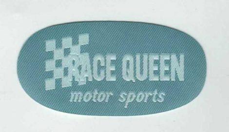 Race Queen - ruhára vasalható textil matrica