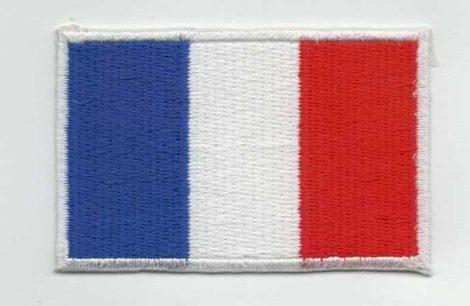 Zászló - francia - ruhára vasalható textil matrica