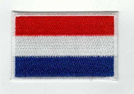 Zászló - holland - ruhára vasalható textil matrica