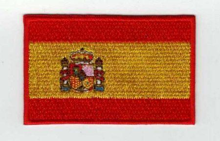 Zászló - spanyol - ruhára vasalható textil matrica