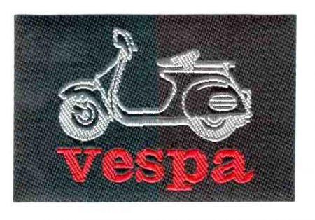 Vespa - ruhára vasalható textil matrica