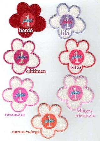 Virág - ruhára varrható plüss textil ruhadísz