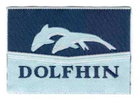 Delfinek - ruhára vasalható textil matrica