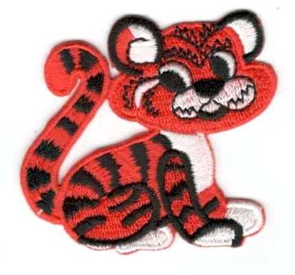 Tigris - ruhára vasalható textil matrica