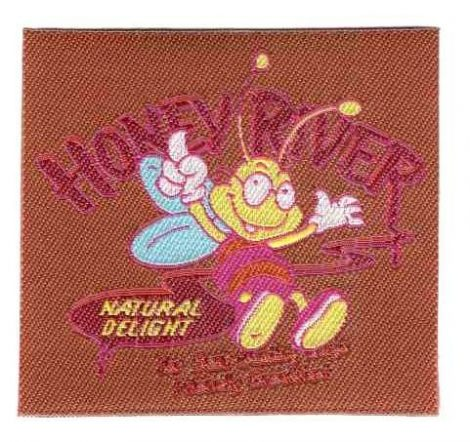 Honey river - ruhára vasalható textil matrica