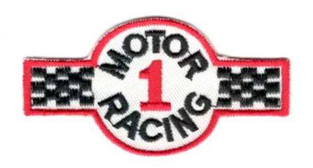 Motor racing - ruhára vasalható textil matrica