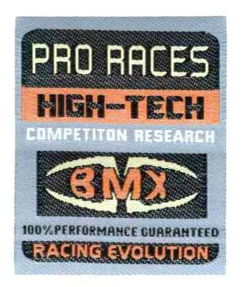 BMX - ruhára vasalható textil matrica