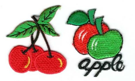 Gyümölcsök - ruhára vasalható textil matrica