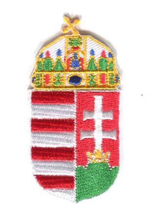 Magyarország címere - ruhára vasalható textil matrica