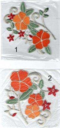 Virág - ruhára vasalható textil matrica