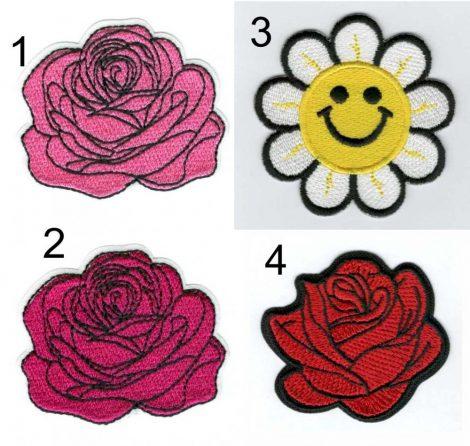 Rózsa - ruhára vasalható textil matrica