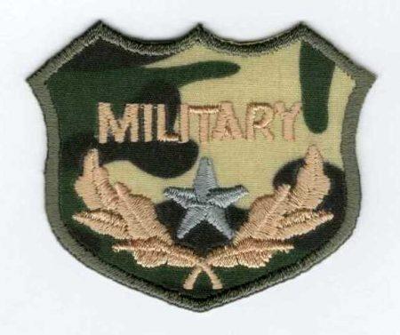 Military - ruhára vasalható textil matrica