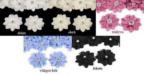 Virág - 3D ruhára varrható textil matrica