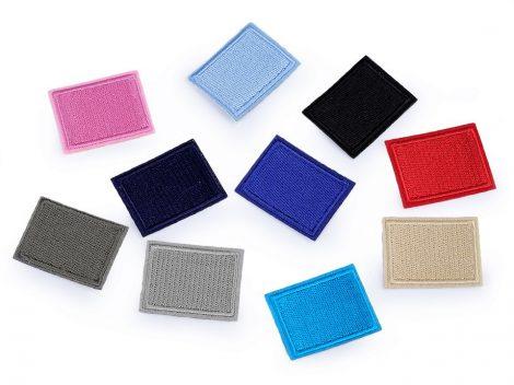 Színes téglalapok - ruhára vasalható textil matrica