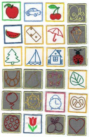 1 ovis jelek - ruhára varrható textil matrica