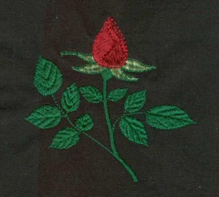 Rózsa bimbó - ruhára varrható textil matrica