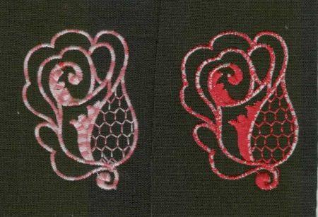 Virág - ruhára varrható textil matrica