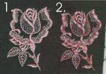 Rózsaszál - ruhára varrható textil matrica