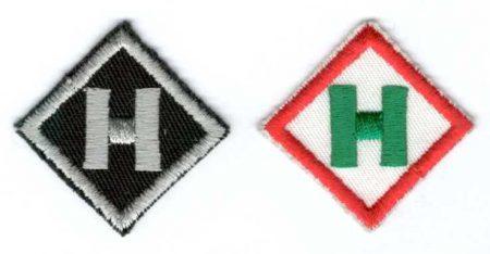 H betű - ruhára varrható textil matrica