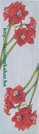 Amarilisz (piros) - előfestett gobelin
