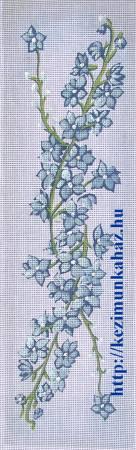 Kék virág - előfestett gobelin