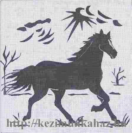 Ló árnyék kép - előnyomott gobelin