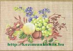 Gyümölcsök és virágok - előfestett gobelin