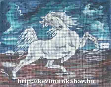 Eugéne Delacroix : A villámlástól megriadt ló - előfestett gobelin