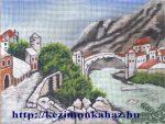 Csontváry Kosztka Tivadar:A mosztari öreg híd - előfestett gobelin