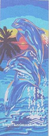 Delfinek - előfestett gobelin