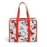 Mindenes nagy utazó táska (tartalom nélkül) - Prym - piros, gyapjú fonalas bárányos