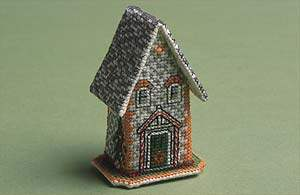 Hétvégi házak – Karácsony kelet Angliában keresztszemes ház készlet