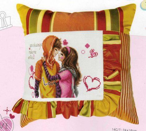 Boldog szerelem - leszámolható keresztszemes párna készlet