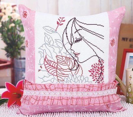 Nő - előfestett keresztszemes párna készlet