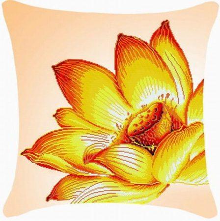 Lótusz virág - előfestett keresztszemes párna készlet