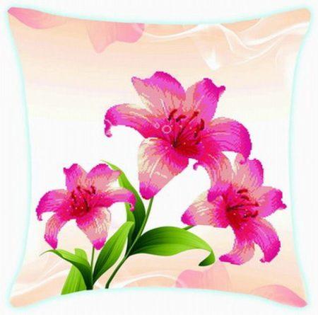 Lilomok - előfestett keresztszemes párna készlet