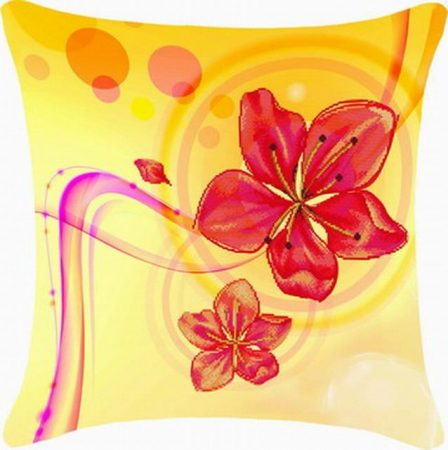 Liliom - előfestett keresztszemes párna készlet