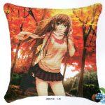 Lány ősszel  - előfestett keresztszemes párna kész