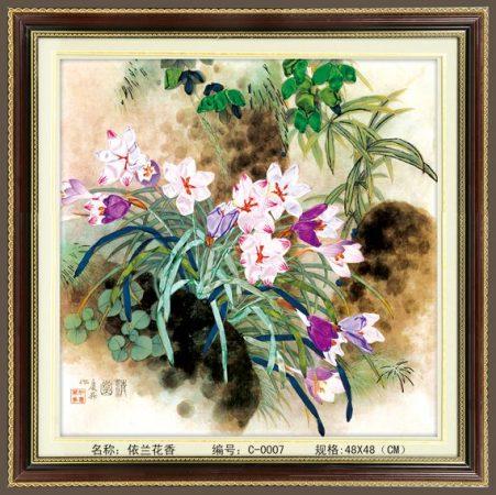 Virágok - szalaghímzés készlet