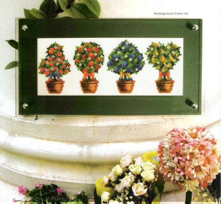 Virágbokrok - keresztszemes készlet