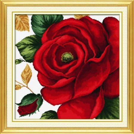 Rózsa - keresztszemes készlet
