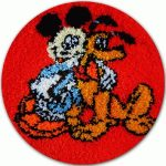 Mickey és plútó - subaszőnyeg készlet