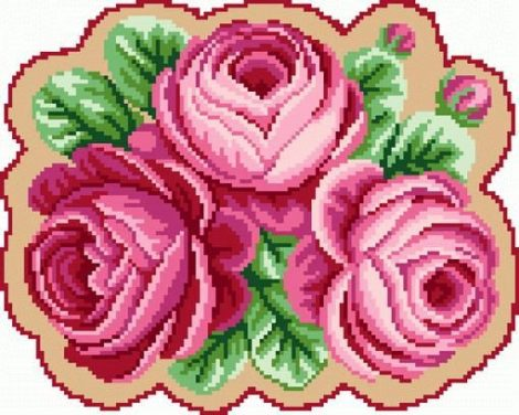 Rózsák - nagy subaszőnyeg készlet