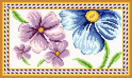 Virágos - nagy subaszőnyeg készlet
