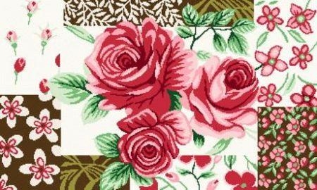 Rózsás - hatalmas subaszőnyeg készlet
