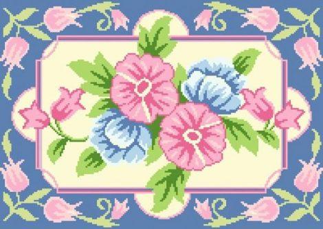 Virágos - óriás subaszőnyeg készlet
